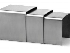 12 harvey stainless steel nesting tables algin retro harvey stainless steel nesting tables watchthetrailerfo
