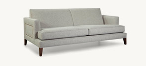16. Pitch Sofa with nail heads 83″
