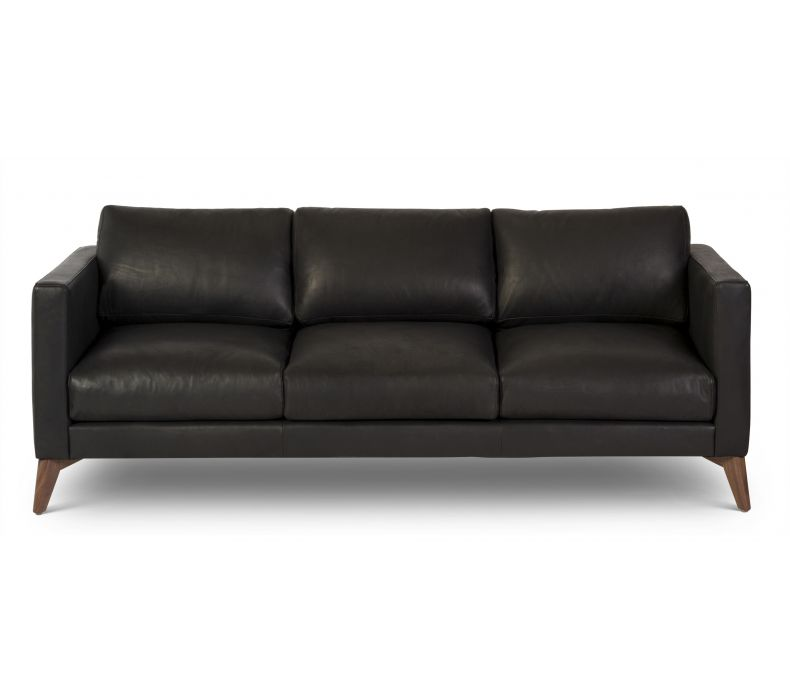 burbank custom leather chaise 115 algin retro. Black Bedroom Furniture Sets. Home Design Ideas