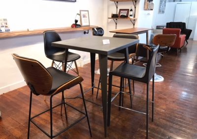 Metal Bar Tables and Stools