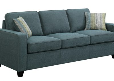 Blue Green Transitional Sofa