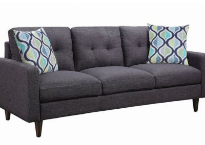 Charcoal Grey Button Sofa