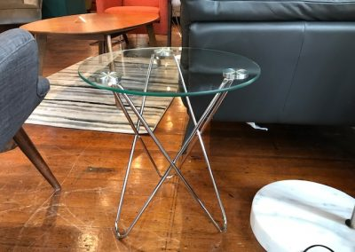Glass Hairpin End Table