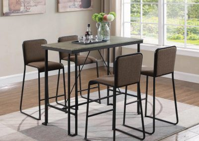 Industrial Metal Rectangle Bar Table and Stools