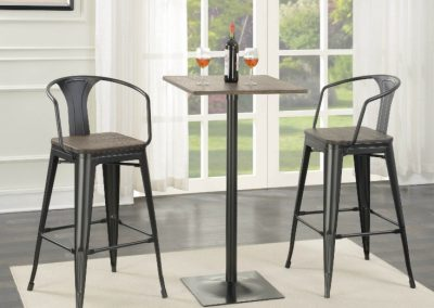 Industrial Square Bar Table and Stools