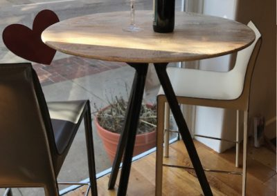 Industrial Stone Bar Table and Stools