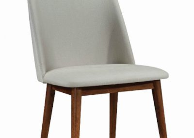 Lt Grey Wood Leg Dining Chair
