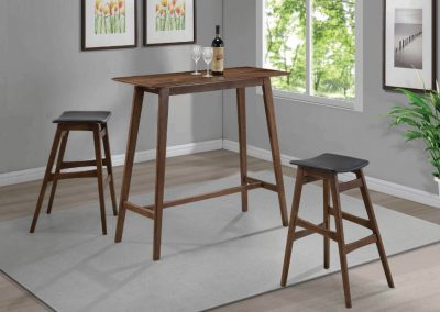 Mid Century Modern Bar Table and Stools