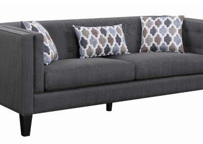 Modern Grey Chesterfield Sofa