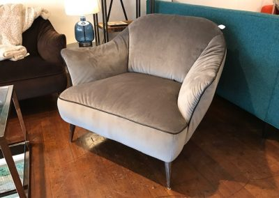 Natuzzi Velvet Accent Chair