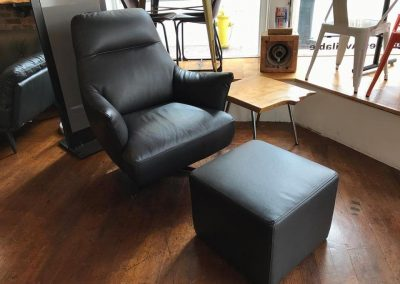 Natuzzi Editions Chair and Ottoman