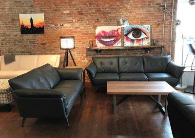 Natuzzi Editions Leather Sofa Set 2