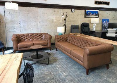 Natuzzi Editions Leather Sofa Set