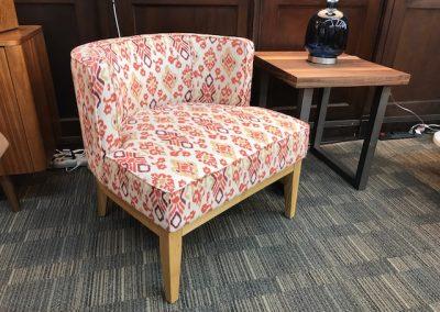 Orange Print Accent Chair