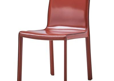 Recycled Leather Cordovan Dining Chair