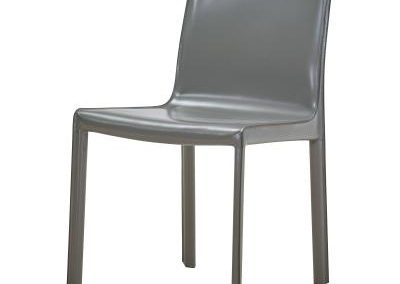 Recycled Leather Grey Dining Chair