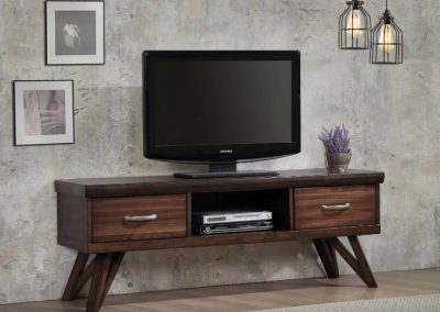 Rustic Walnut Entertainment Center