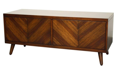 Walnut Chevron Entertainment Center