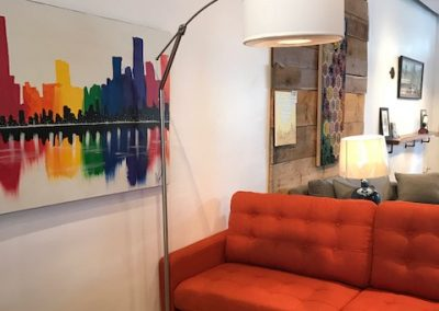 Arc Lamp with Shade