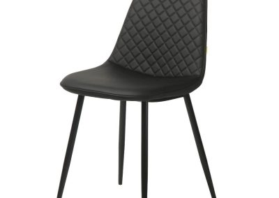 Black Diamond Tufted Dining Chair