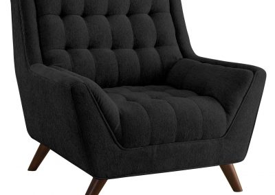 Black Tufted Oversized Arm Chair