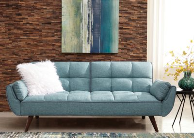 Blue Modern Tufted Futon