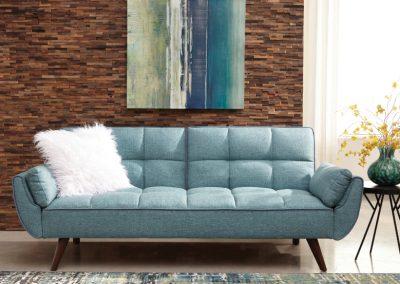 Blue Modern Tufted Futon