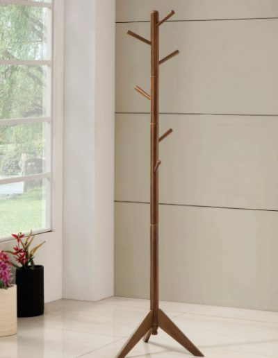 Brown Wood Coat Tree