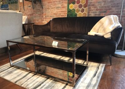Chocolate Chrome Glass Coffee Table