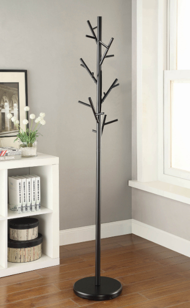 Contemporary Black Coat Tree