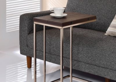 Contemporary Chestnut Expandable Snack Table