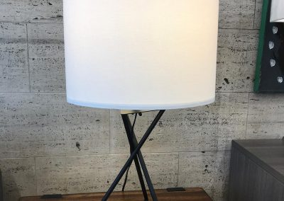 Geometric Black Table Lamp