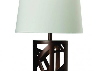 Geometric Brown Table Lamp