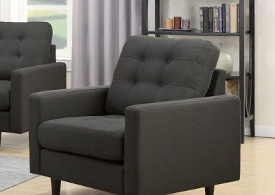 Grey Tufted Arm Chair
