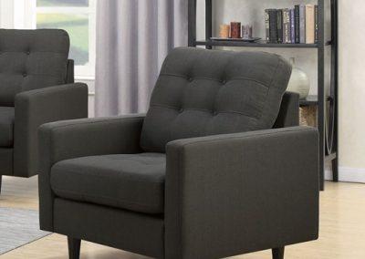 Grey Tufted Arm Chair
