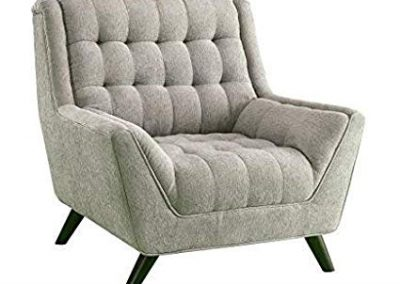 Grey Tufted Oversized Mod Chair