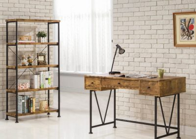 Industrial Antique Nutmeg Bookcase