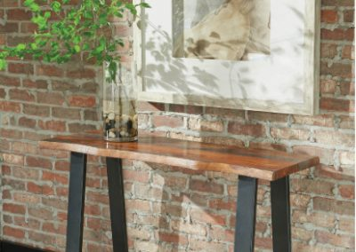 Live Edge Style Console Table