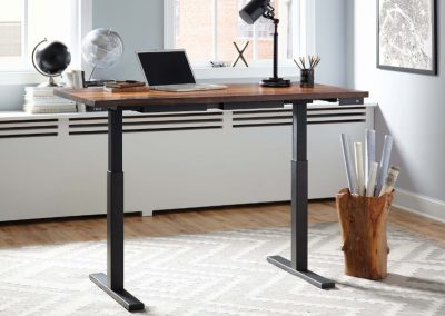 Live Edge Wood Height Adjustable Desk