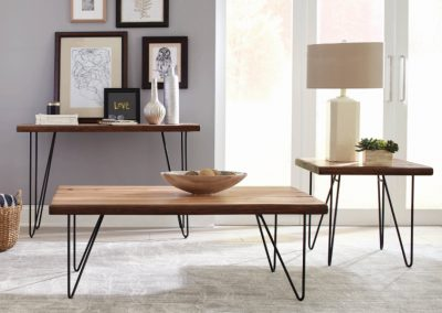 Mid-Century Modern Mahogany Coffee Table Set