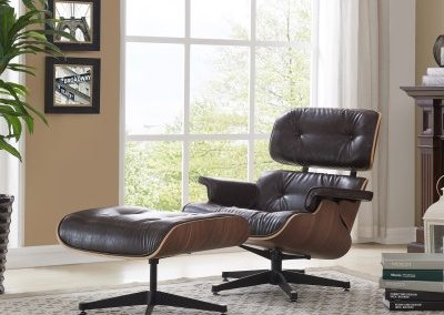 Mid Century Modern Replica Lounge Chair and Ottoman