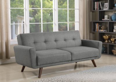 Modern Grey Tufted Futon