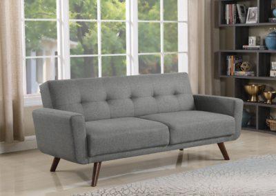 Modern Grey Tufted Futon