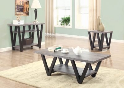 Modern Grey Wash Coffee Table Set