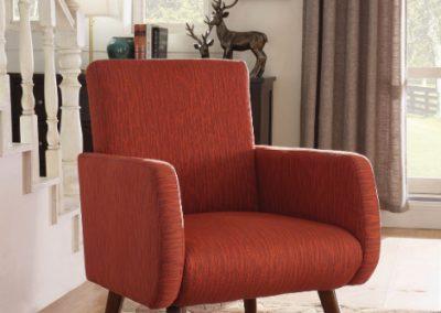 Modern Orange Accent Chair