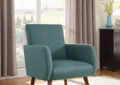 Modern Teal Accent Chair