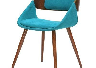 Modern Teal and Walnut Dining Chair
