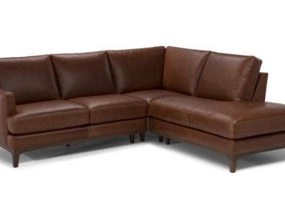 Natuzzi Editions Nostalgia Leather Sectional Sofa