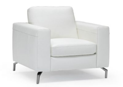 Natuzzi Editions Sollievo Leather Accent Chair with Metal Legs