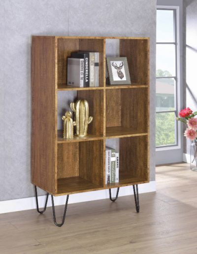 Rustic Amber Bookcase